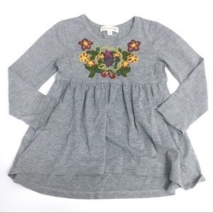 Mimi & Maggie hi low embroidered dress